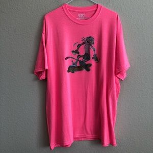 Vintage Pink Panther Iron-On On New T-Shirt NWT